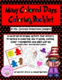 Celebrate Dr. Seuss! My Many Colored Days Coloring Booklet