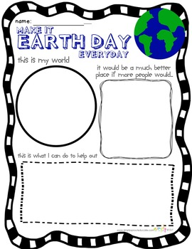Celebrate Earth Day with a writing activity