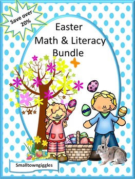 Easter Bundle NO PREP/LOW Prep Math and Literacy Printable