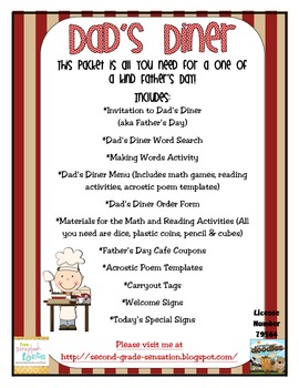 Celebrate Father's Day by Inviting Fathers to Dad's Diner
