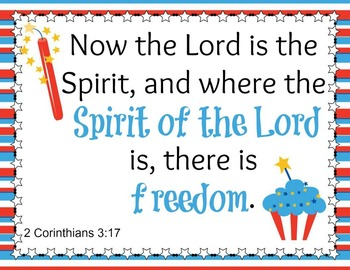 Celebrate Freedom Bible Verse Posters