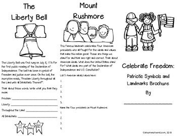 Celebrate Freedom: Patriotic Brochures for Holidays, Heroes, Symbols, and Songs