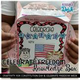 Celebrate Freedom & Constitution Day - Craftivity Cube Social Studies & ELAR