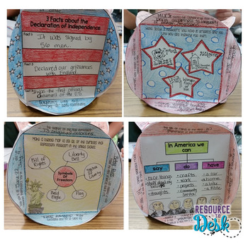 Celebrate Freedom & Constitution Day - Craftivity Cube Social Studies & ELAR