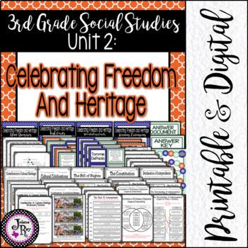 Celebrate Freedom Week: TRS Unit 2: 3rd Grade TEKS Based Social Studies Unit