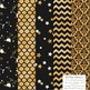 Celebrate Gold Foil Digital Papers in Black