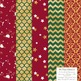 Celebrate Gold Foil Digital Papers in Christmas