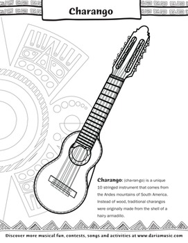 Celebrate Hispanic Heritage - Musical Craft And Coloring E-Book