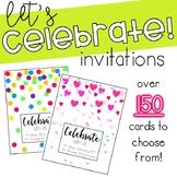Celebrate! Invitation Cards **Editable**