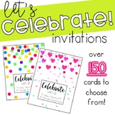 Celebrate! Invitation Cards **Editable** Valentine's Day C