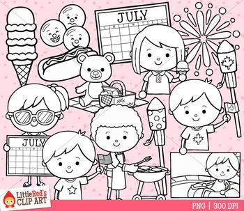 Celebrate July Clip Art