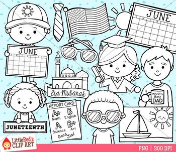 Celebrate June Clip Art