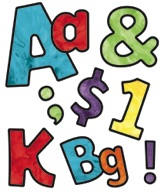 Celebrate Learning Watercolor Letters, Numbers, and Symbols