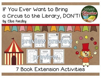 Celebrate Libraries 10 Picture Book Activity BUNDLE - NO PREP - 74 ACTIVITIES