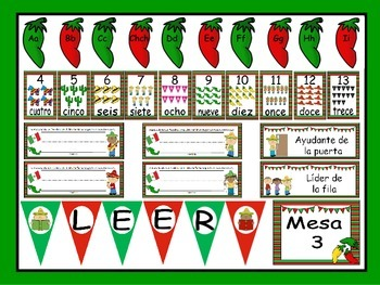 Celebrate MEXICO! Calendar Set and Classroom Decorations {Spanish Version}