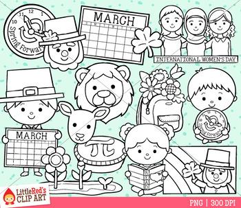 Celebrate March Clip Art