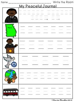Celebrate Martin Luther King, Jr. Write / Stamp the Room Activity Pack