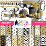 Celebrate New Years 2022 Clipart & Scrapbook Paper {Glitter Meets Glue}