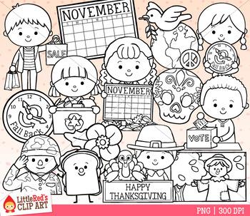 Celebrate November Clip Art