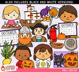 Celebrate October Clip Art