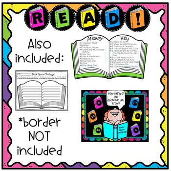 Celebrate Reading!  Bulletin Board with Quotes from Children's Books