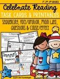 Celebrate Reading Task Cards & Printables {Grades 1, 2, & 3}