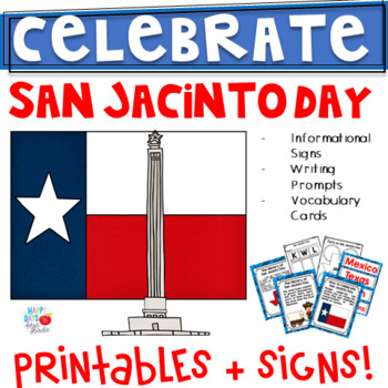 San Jacinto Day (1st/2nd/3rd) Signs, Printables, & More!