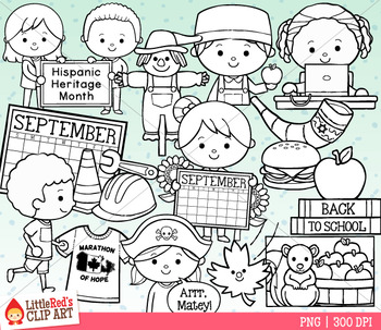 Celebrate September Clip Art
