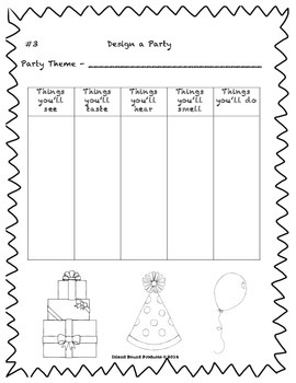 Celebrate Seuss' Birthday Writing Activity