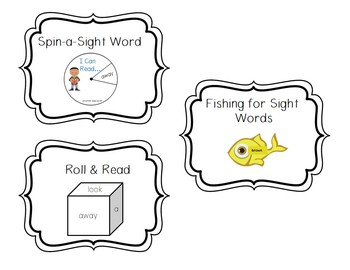 Sight Word Games: 3 Dolch Sight Word Games: pre-primer, primer, & 1st grade