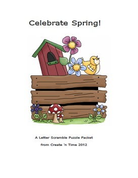 Celebrate Spring Letter Scramble Puzzle Packet and Center