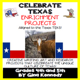 Texas History and Pride Enrichment Writing and Research Projects