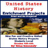 United States History Projects, Writing and Research Projects