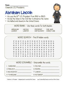 Celebrate U.S. Presidents – Abraham Lincoln - Search, Scra
