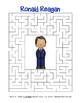 Celebrate U.S. Presidents – Ronald Reagan - Search, Scramble,Maze! (color)