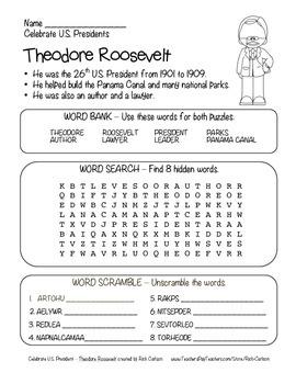 Celebrate U.S. Presidents – Theodore Roosevelt Search, Scr