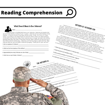 picture regarding Veterans Day Printable Activities referred to as Veterans Working day Grades 2-4 (33 internet pages!) Pursuits Worksheets