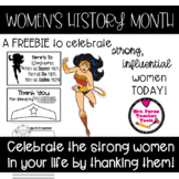 Celebrate Women's Month Today Freebie