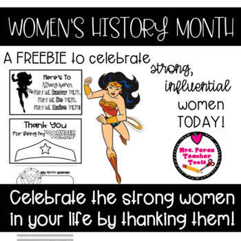 Celebrate Women's Month Today Freebie