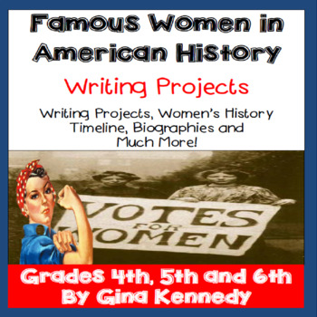 Celebrate Women's History Enrichment Writing Projects!  Ti