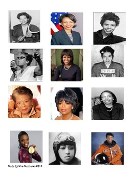 Celebrate Women's History Month using these picture cards of Women!