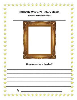 Celebrate Women's History Worksheet