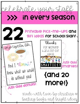 Celebrate Your Staff In Every Season {printable tags to go with tiny gifts}