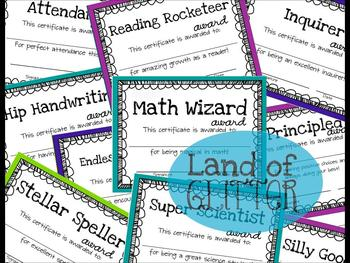 Celebrate Your Students: Class Awards