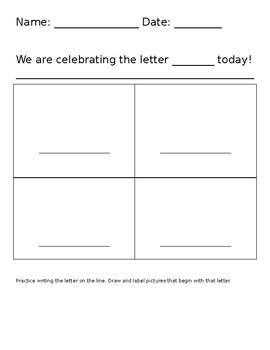 Celebrate a Letter