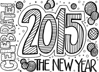 Celebrate the New Year Coloring Sheet