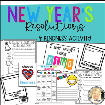 Celebrate the New Year, Resolutions and Kindness Challenge! - Writing for 2018