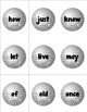 Celebrate the New Year With Sight Words - A Common Core Center for K-3!