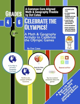 Celebrate the Olympics! Math & Geography Fun Celebrating the Olympics:  Gr. 4-6