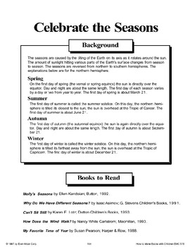 Celebrate the Seasons: Making Books